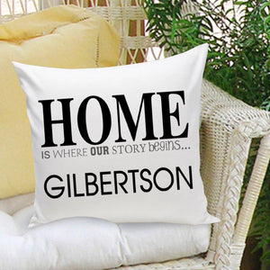 Personalized 'Home' Throw Pillow