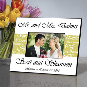 Mr. and Mrs Picture Frame