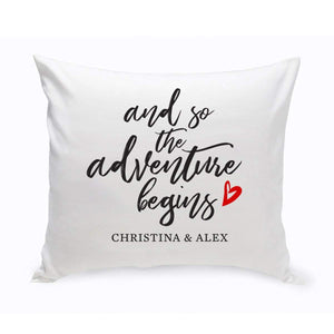 Adventure Begins Personalized Throw Pillow
