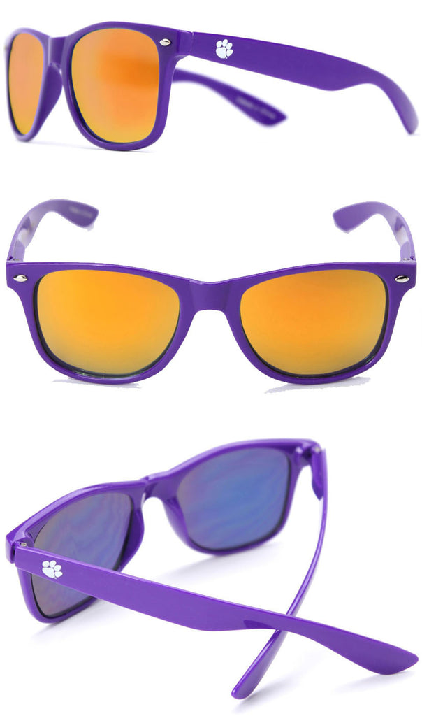 Clemson Sunglasses - Purple