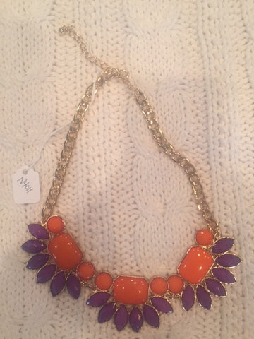 Fan Flare - Clemson Necklace