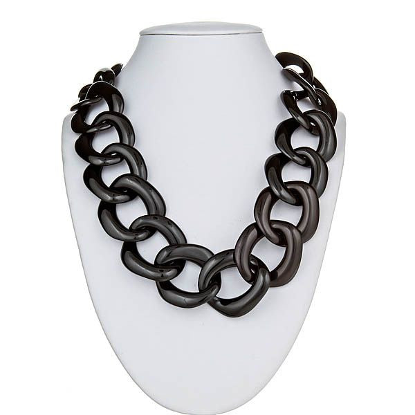 Black Link Necklace