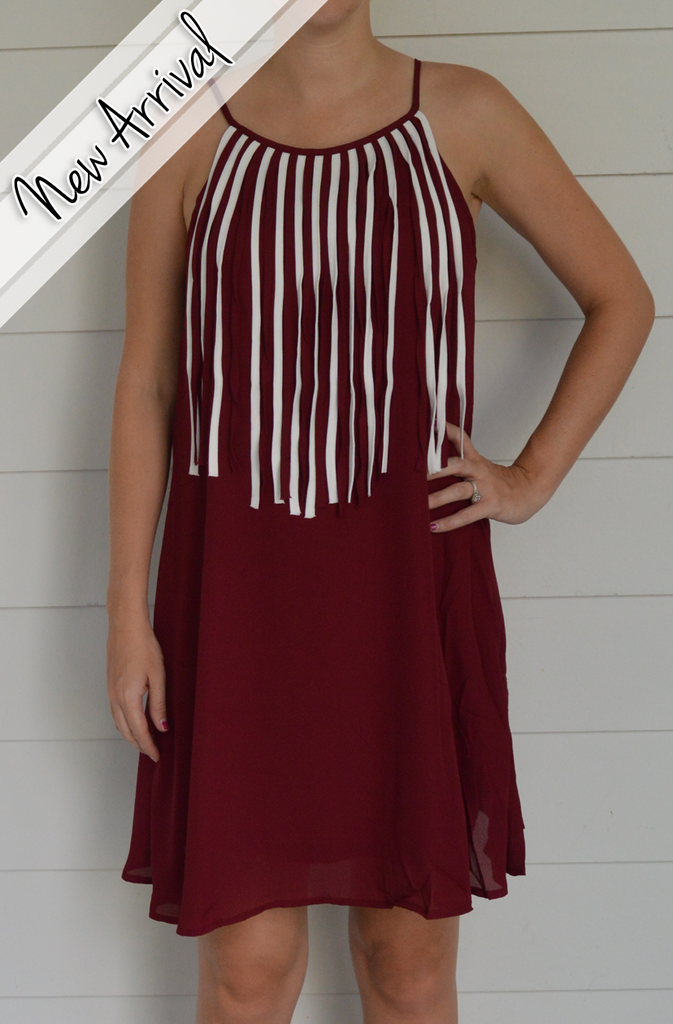 Maroon Game Day Dress