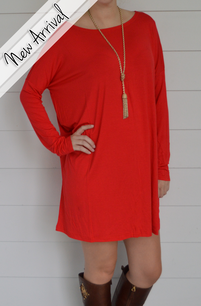 Piko Dress - Red