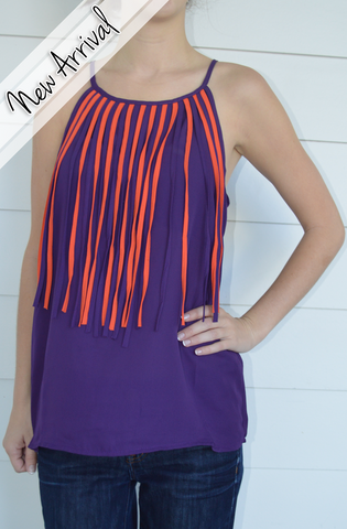 Orange & Purple Cheer Top