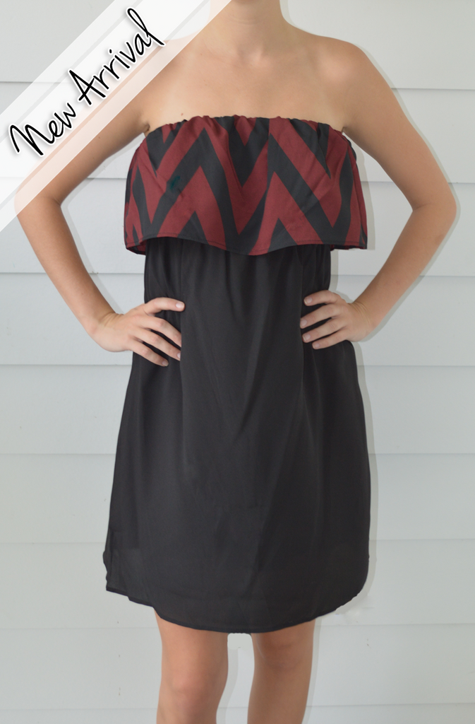 Gameday Ready Dress in Chevron