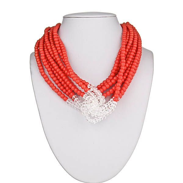 Orange & Clear Necklace