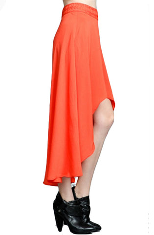 Orange Hi Lo Skirt