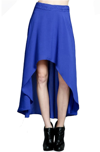 Blue Hi Lo Skirt