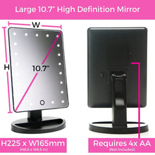 Load image into Gallery viewer, Absolutely Lush Mirror Black Dimensions and Batteries