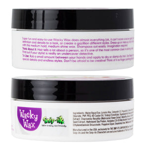 Wacky Wax 2oz Tub Front & Back Sides
