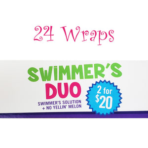 Snip-its DUO Case of 24 No Yellin Melon and Swimmer's Solution Back Wrap