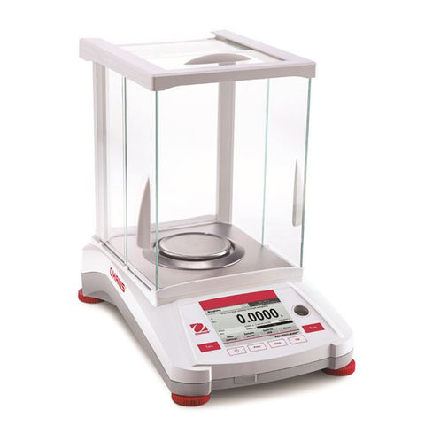 Ohaus AX124 Adventurer Toploading Balance (110g x 0.1mg) with internal calibration and free shipping (NEW) - LEI Sales