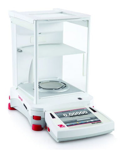 Ohaus EX225D Explorer Dual range Semi-micro Analytical Balance (120g/220g x 0.01mg/0.1mg) with internal calibration (NEW) - LEI Sales