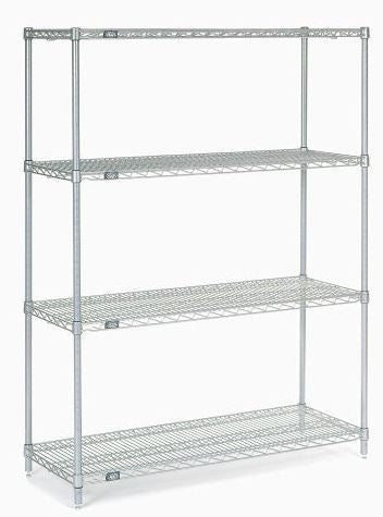 "Chrome wire shelving 48""W x 18""D - 4 shelves (NEW) - LEI Sales"