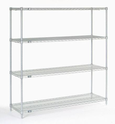 "Chrome wire shelving 60""W x 18""D - 4 shelves (NEW) - LEI Sales"