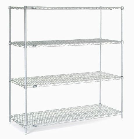 "Chrome wire shelving 72""W x 18""D - 4 shelves (NEW) - LEI Sales"