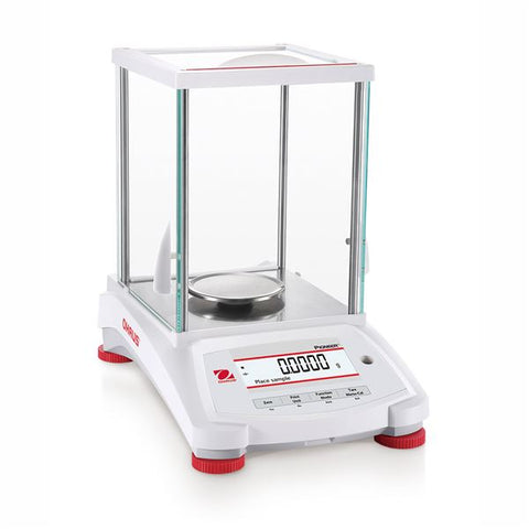 Ohaus PX225D Pioneer Semi-Micro Analytical Balance Dual range (82g/220g x 0.01mg/0.1mg) with internal calibration and printer (NEW) - LEI Sales