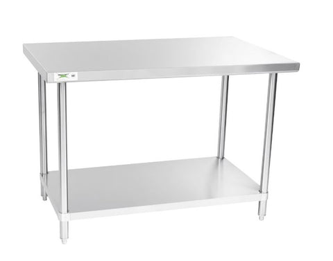 "Stainless steel lab table:  48"" x 30"" 14 Ga. with undershelf (NEW) - LEI Sales"