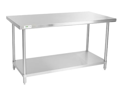 "Stainless steel lab table:  60"" x 30"" 14 Ga. with undershelf (NEW) - LEI Sales"