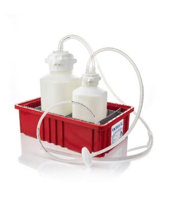 "Foxx Life Vactrap XL, HDPE (Bleach-Compatible), 4L + 2L, Red Bin, with 1/4"" ID Tubing - LEI Sales"