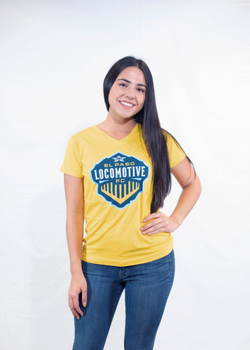 Women's V-Neck Tee - Yellow