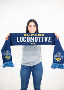 Locomotive Navy HD Knit Scarf
