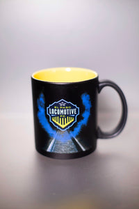 Locomotive Black and Gold Matte Mug