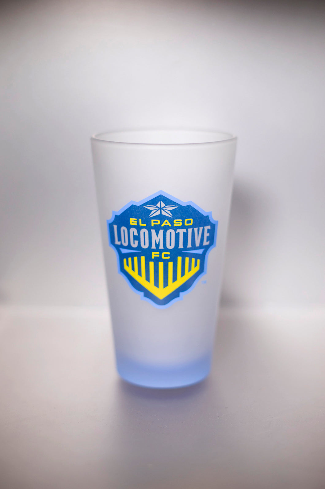 Locomotive Frosted Pint Glass