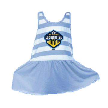 Infant Locomotive Crest Dress - Blue