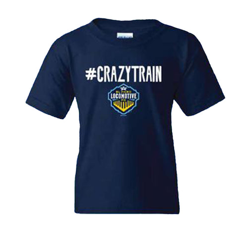Youth #CRAZYTRAIN Tee - Navy