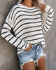 Black & White  Pullover Knit Sweater