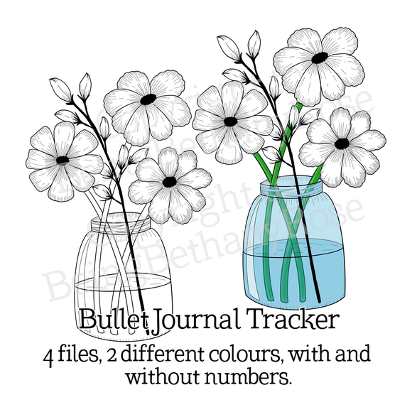 Bullet Journal Monthly Flower Tracker *INSTANT DOWNLOAD* *PRINTABLE*
