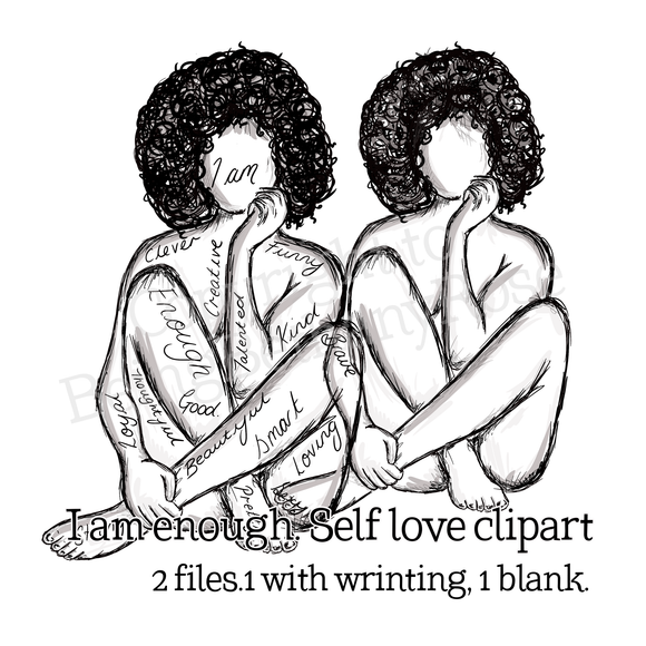 I am...  Clipart (Curls)