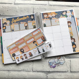 September (can change month) wizard Monthly View Kit for the Erin Condren Planners