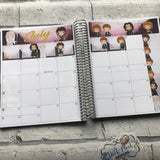 July precious Monthly View Kit (can change month) for the Erin Condren Planners