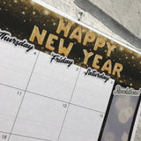Happy new year Monthly View Kit for the Erin Condren Planners