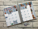 December (can change month) wizard Monthly View Kit for the Erin Condren Planners