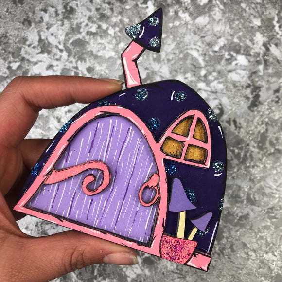 Purple and pink Fairy Door