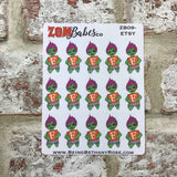 Social Media (Etsy) Zombabe sticker for planners (ZB09)