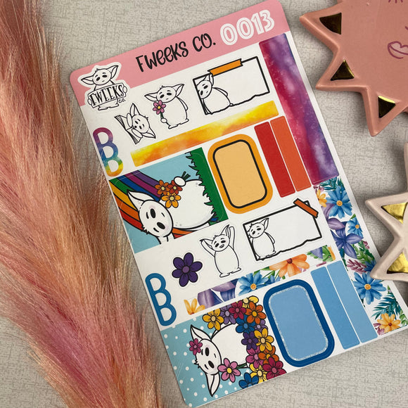 Rainbow Small Planner Sticker Kit / Deco sheet perfect for A6 planners / pocket planners etc -  (0013)