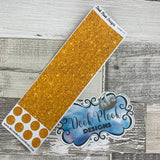 Passion Planner Hour Cover up / Washi strip stickers (Gold Glitter DPDW-16)