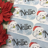 Personalised kids / adults Christmas Present Labels. (47 Owl)