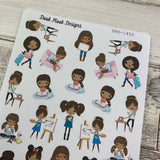 Mixed character Black Woman Stickers (set 2) (DPD1452)