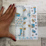 Christmas blue decorative stickers (DPD1514)