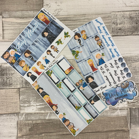 Winter is coming (any month) Monthly View Kit for the Erin Condren Planners