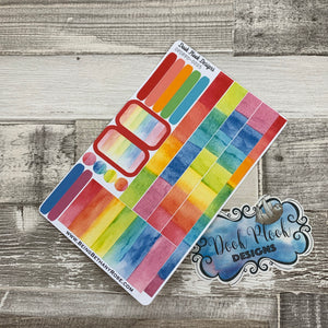 (0005) Passion Planner Daily stickers - Rainbow