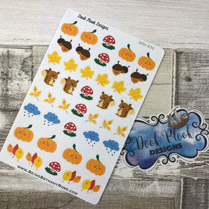 Kawaii Autumn / fall stickers (DPD830)