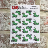 Step tracking / 5k / 10k / 20k Run Zombabe character sticker for planners (ZB34abcd)