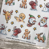 Water colour Christmas stickers  (DPD1161)